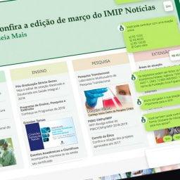 Pessoa usando o chatbot do IMIP em um tablet
