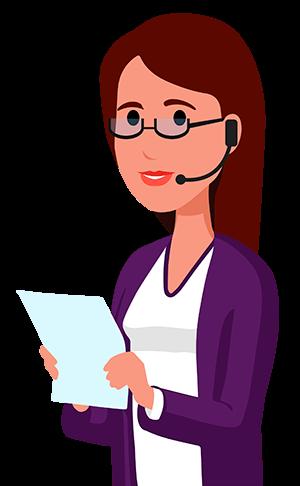 Ilustração da Susana, nossa chatbot para construtoras